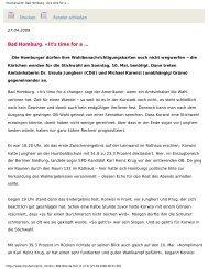 Taunus Zeitung 27. April 2009