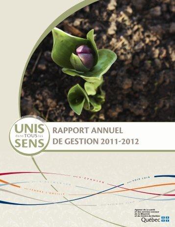 rapport annuel de gestion 2011-2012 - Agence de la santé et des ...