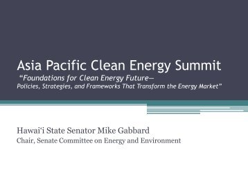 Asia Pacific Clean Energy Summit