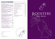 Roosters bar menu Sept 2011 a3.indd - Morley Hayes