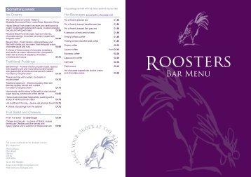 Roosters bar menu Sept 2011 a3.indd - Morley Hayes