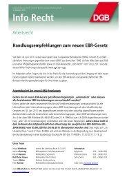 Handlungsempfehlungen zum neuen EBR-Gesetz - IG BCE