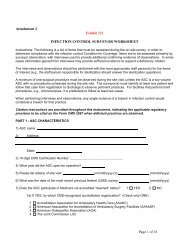 Infection Control Surveyor Worksheet - Premier healthcare alliance