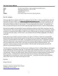 Request for TAT Reconsideration - The Twin Towers Alliance