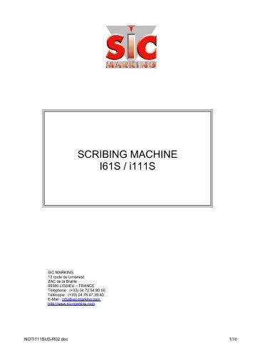 SCRIBING MACHINE I61S / i111S - SIC-Venim s.r.o.