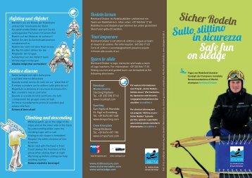 in sicurezza Safe fun on sledge - Rosskopf