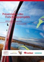 Präsentation des Forschungsprojekts - ABC-Einsatzhandbuch