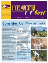 November 2004 - McCrone Healthbeat