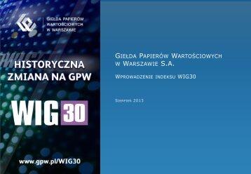 Indeks WIG30 - prezentacja - GPW