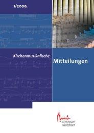 Inhalt IPD_1_2009 - Kirchenmusik im Erzbistum Paderborn