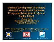 the Paul S. Sarbanes Ecosystem Restoration Project at Poplar Island