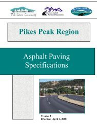 Pikes Peak Regional Asphalt Paving Specification