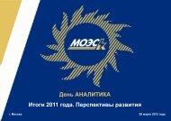 День АНАЛИТИКА - Московская объединенная электросетевая ...