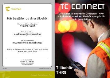 Se vilka tillbehör som vi rekommenderade till THR9i - TC Connect