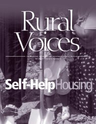 Fall 2003 issue of Rural Voices magazine in PDF format - Housing ...