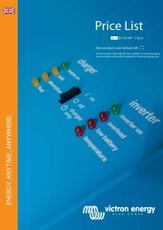 Pricelist Victron 2013-Q1 C Euro - YEH Engels & Kieth GmbH