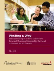 Finding a Way - College Board Advocacy & Policy Center