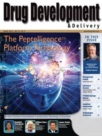 IN THIS ISSUE - Drug Development & Delivery