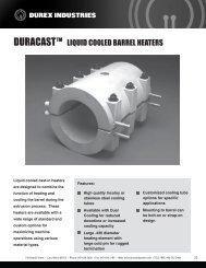 TM LIQUID COOLED BARREL HEATERS - Durex Industries