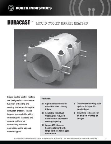 TM LIQUID COOLED BARREL HEATERS - Durex Industries