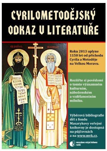 Bibliografie Cyril a Metoděj - MVK