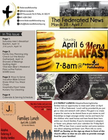 The Federated News - Federated Fellowship Church