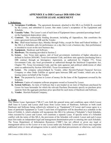 Equipment Lease Agreement Agreement Made   - Toba, Inc.