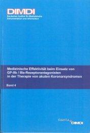 Medizinische Effektivität beim Einsatz von GP-IIb / IIIa ...