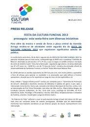 Press release 04 - Câmara Municipal do Funchal