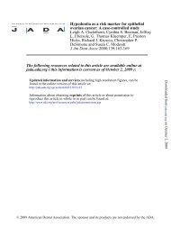 Hypodontia as a risk marker for epithelial ovarian cancer