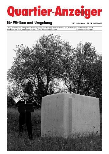 Ausgabe 5, Juli 2013 - Quartier-Anzeiger Archiv