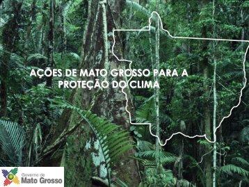 AÇÕES DE MATO GROSSO PARA A PROTEÇÃO DO CLIMA