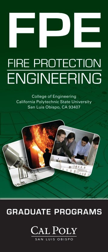Check out the FPE Brochure (PDF) - Fire Protection Engineering