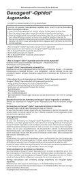 Dexagent®-Ophtal® - Dr. Winzer Pharma