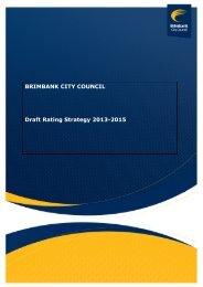 BRIMBANK CITY COUNCIL Draft Rating Strategy 2013-2015