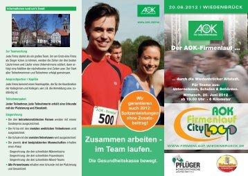 Der AOK-Firmenlauf … - Firmenlauf Wiedenbrück
