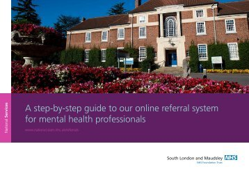 step-by-step referral guide - SLaM National Services