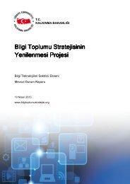 Bilgi Toplumu Stratejisinin Yenilenmesi Projesi Yenilenmesi Projesi