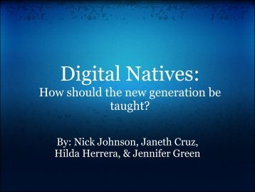 Digital Natives Presentation