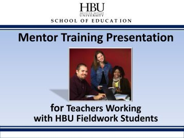 Mentor Training Presentation