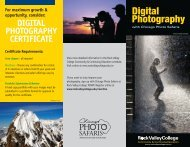DIGITAL PHOTOGRAPHY CERTIFICATE ... - Rock Valley College