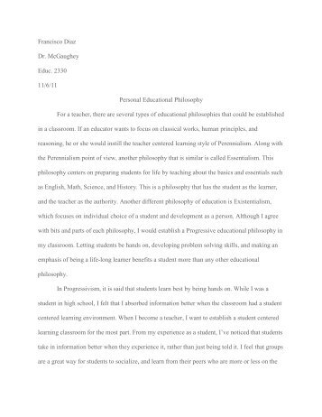 Personal Philosophy Of Education Essays  Barcafontanacountryinncom Personal Philosophy Of Education Essays Term Paper Wizard Online Custom  Writing Service Paper On  Sample Essay For High School Students also Is A Research Paper An Essay  Political Science Essay Topics