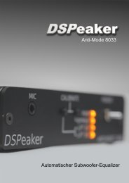 Anti-Mode 8033 Automatischer Subwoofer-Equalizer - DSPeaker