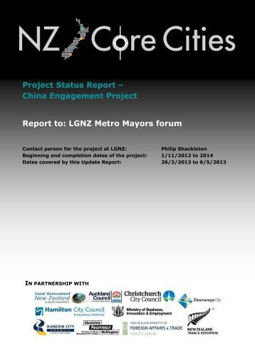 Report to the Metro Mayoral forum - Local Government