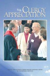 CLERGY APPRECIATION CLERGY APPRECIATION