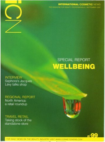 International Cosmetic News - Spas & Profits - Sept 2007