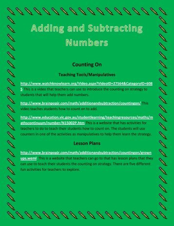 Adding and Subtracting Scrapbook