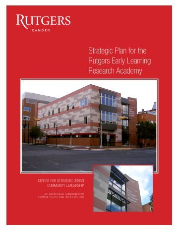 early learning research academy - Rutgers University-Camden