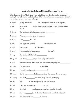 Intransitive Verb Worksheets 6th Grade - The Best and Most ...