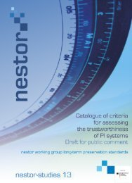 Catalogue of criteria for assessing the trustworthiness of PI systems